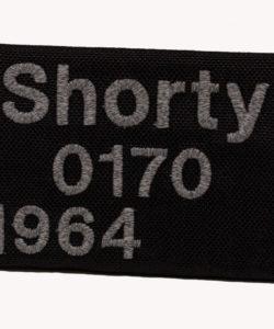 Telefonschild mit reflektierendem Garn