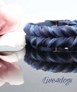 Fettlederhalsband passend zu AnnyX marine/marine